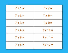 Multiplication Table - 07