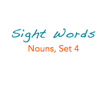 Sight Words: Nouns, 4 of 8