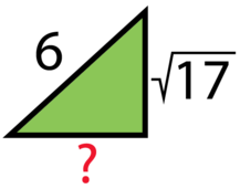 Pythagorean Theorem - Solve for the Missing Side