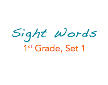 Sight Words: 1st Grade, 1 of 4