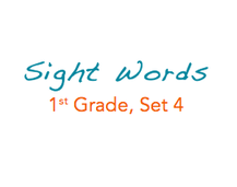 Sight Words: 1st Grade, 4 of 4