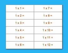 Multiplication Table - 01