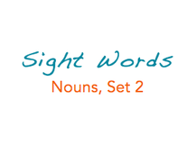 Sight Words: Nouns, 2 of 8