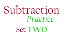 Subtraction Practice, 2