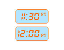 Elapsed Time: How Long to 12:00? (Digital)