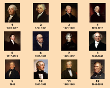 US Presidents 1-12