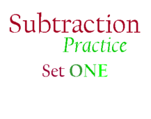 Subtraction Practice, I