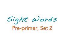 Sight Words: Pre-primer, 2 of 4