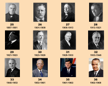 US Presidents 25-36