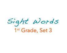 Sight Words: 1st Grade, 3 of 4