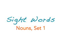 Sight Words: Nouns, 1 of 8