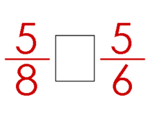 Comparing Fractions w/o Images: Same Numerator